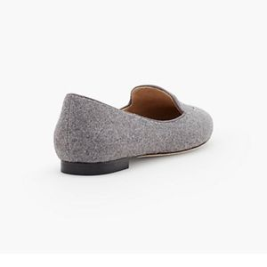 Talbots Shoes - Talbots gray felted 'Ryan' embroidered car loafers